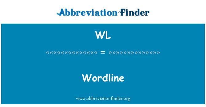 WL: Wordline