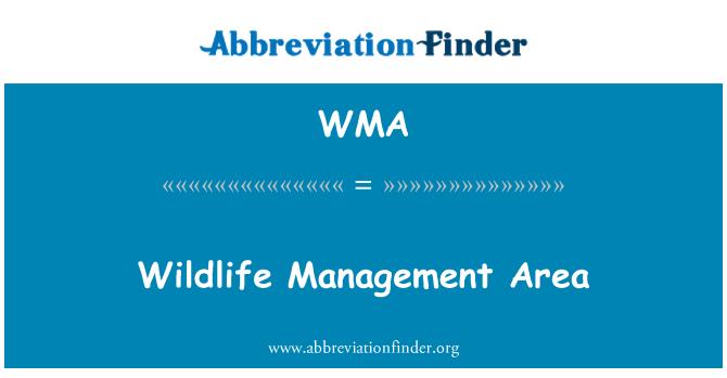 WMA: Wildlife Management Area