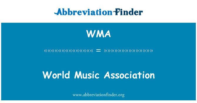 WMA: World Music Association