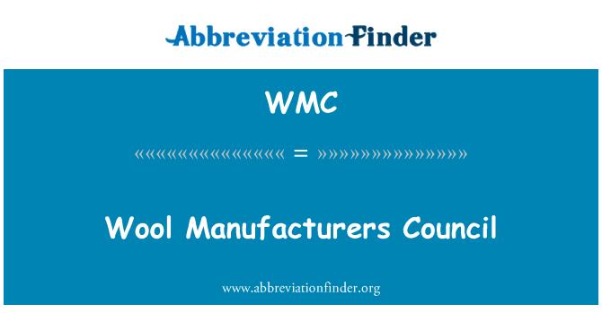 WMC: Wool Manufacturers Council