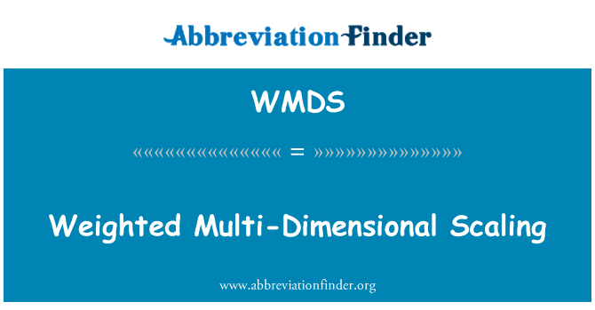 WMDS: Viktade flerdimensionella skalning