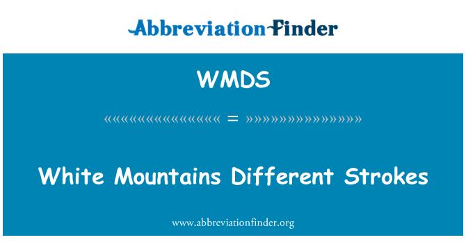 WMDS: White Mountains skirtingi Smūgiai