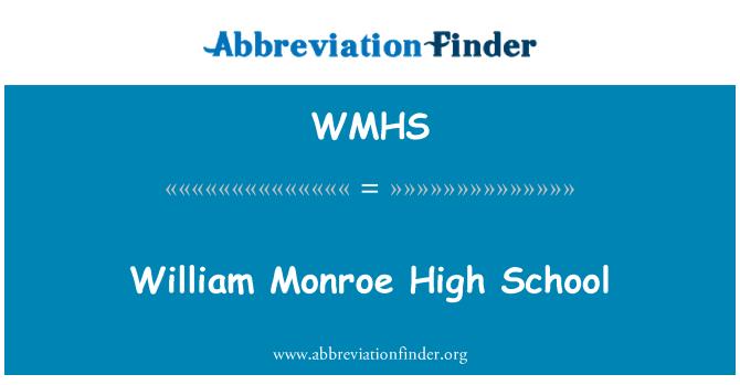 WMHS: William Monroe keskkooli