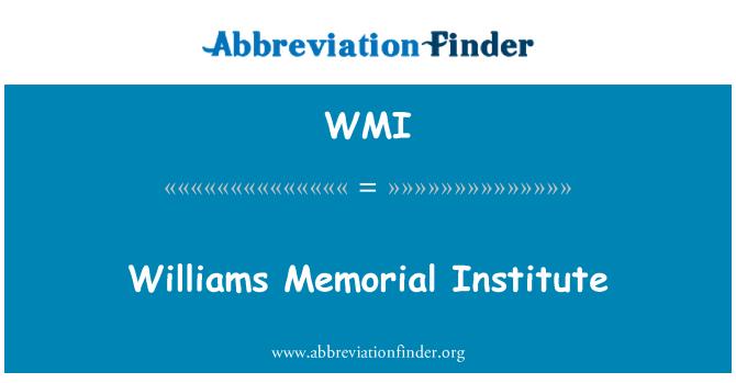 WMI: Williams Memorial Institute