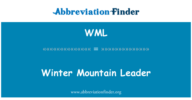 WML: Winter Mountain Leader