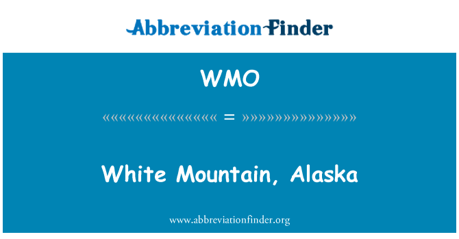 WMO: White Mountain, Alaska