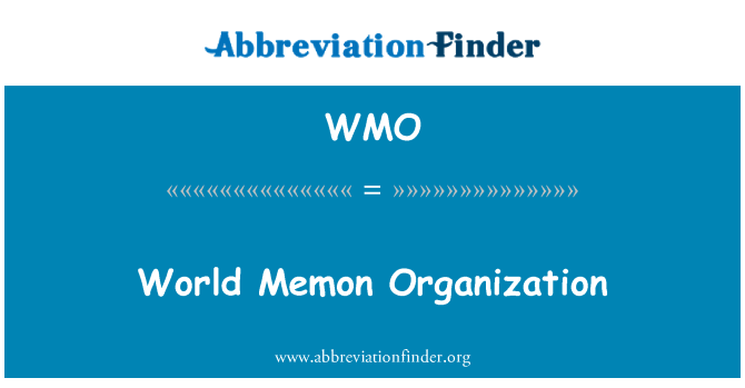WMO: World Memon Organization