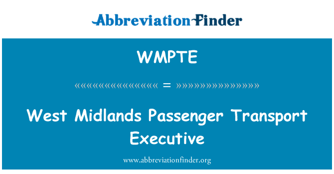 WMPTE: West Midlands Passenger Transport Executive