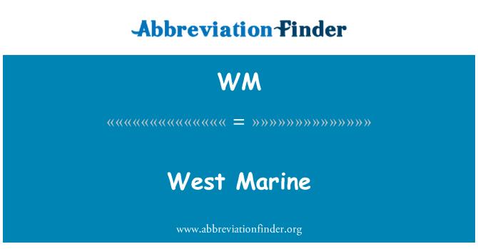 WM: West Marine