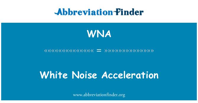 WNA: White Noise Acceleration