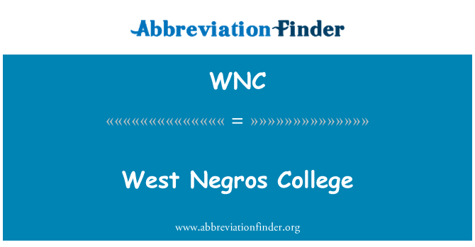 WNC: West Negros College
