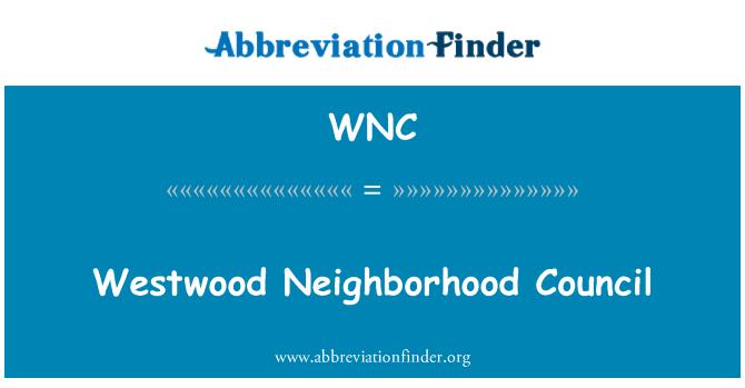 WNC: Consejo Vecinal Westwood