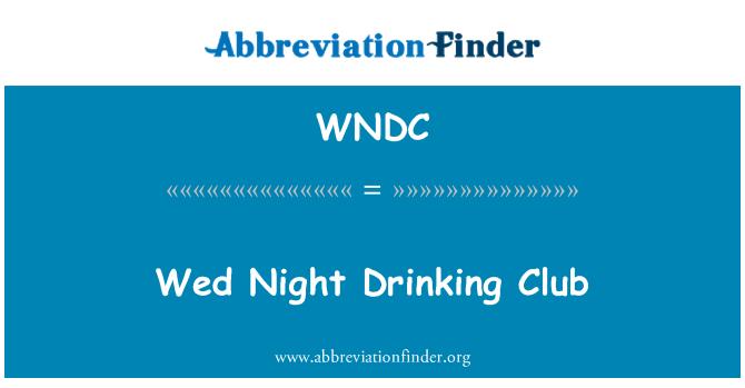 WNDC: Wed Night Drinking Club