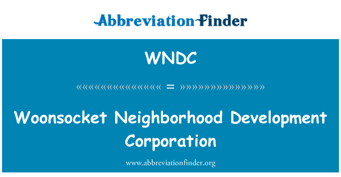 WNDC: Woonsocket Neighborhood Development Corporation