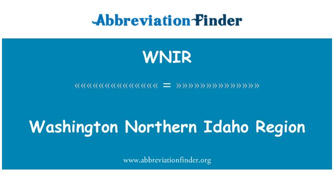 WNIR: Washington Northern Idaho Region
