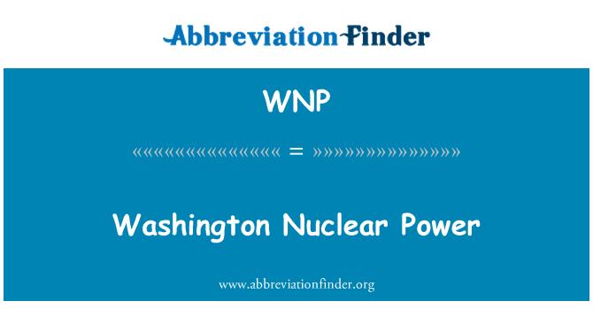 WNP: Washington Nuclear Power