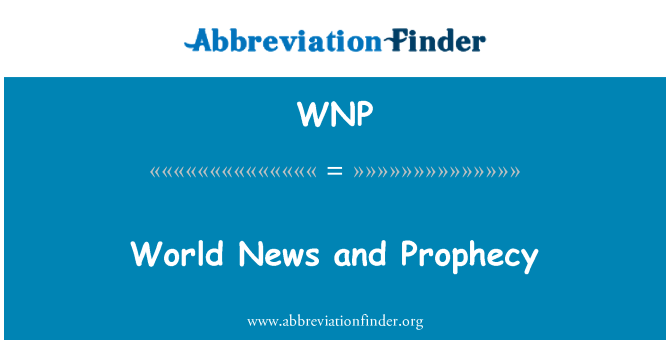 WNP: World News and Prophecy