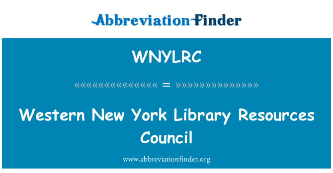 WNYLRC: Western New York Library Resources Council