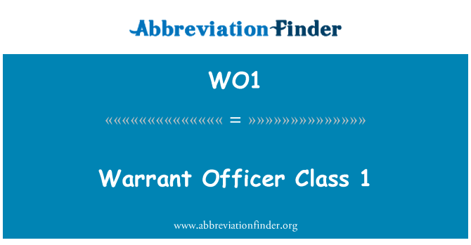 WO1: Gedikli subay sınıf 1