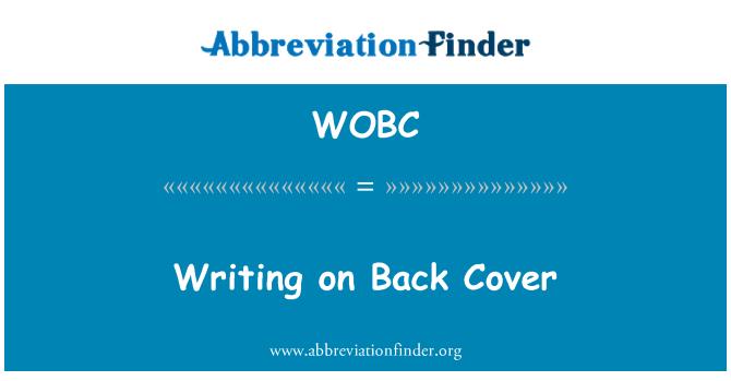 WOBC: Arka kapağı üzerine yazma
