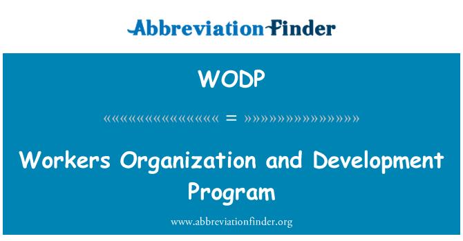 WODP: İşçi organizasyon ve geliştirme programı