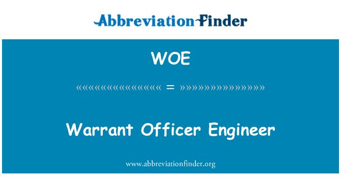 WOE: Warrant Officer Engineer