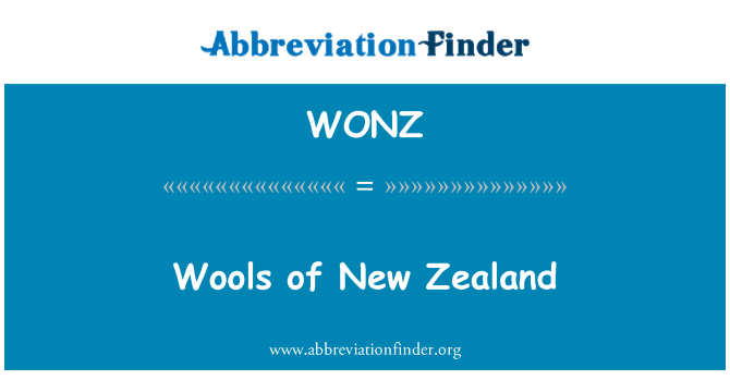 WONZ: Wools of New Zealand