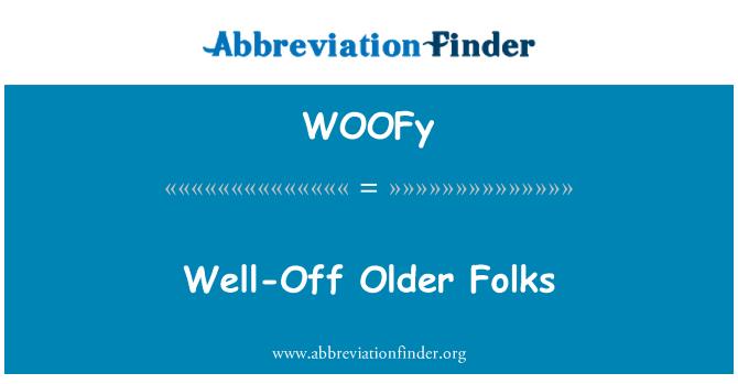 WOOFy: Well-Off Older Folks