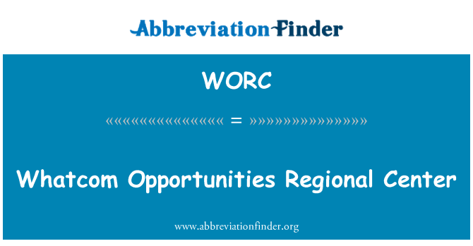 WORC: Whatcom fırsatları bölgesel Merkezi