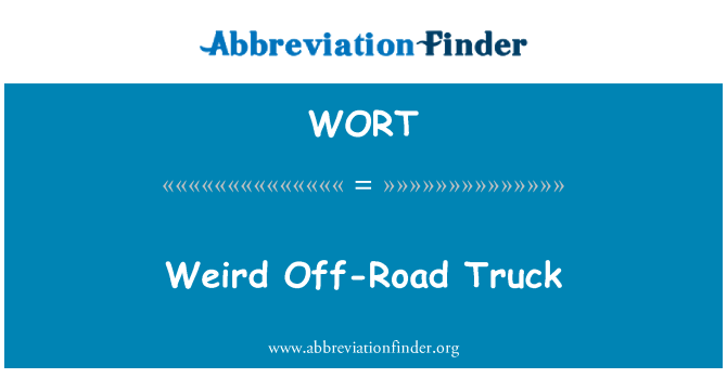 WORT: Weird Off-Road Truck