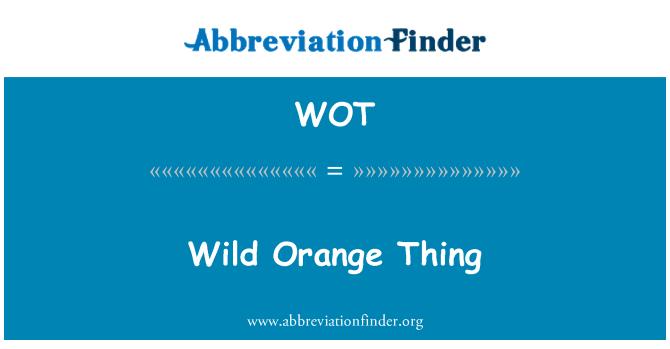 WOT: Wild Orange Thing