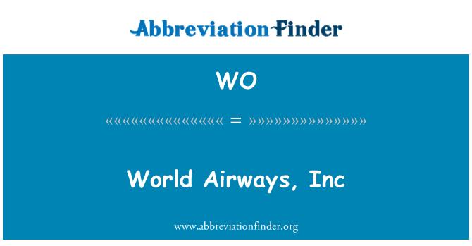 WO: World Airways, Inc