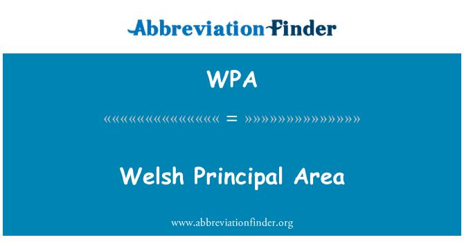 WPA: Welsh Principal Area