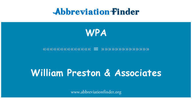 WPA: William Preston & Associates