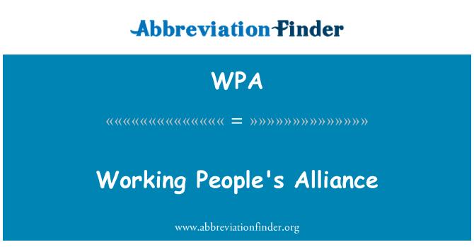 WPA: Working People's Alliance