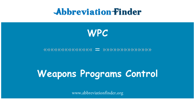WPC: Weapons Programs Control