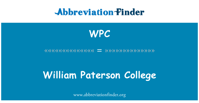 WPC: William Paterson College