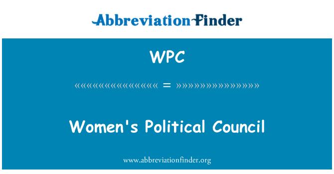 WPC: Women's Political Council