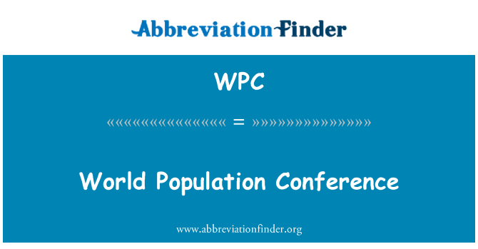 WPC: World Population Conference