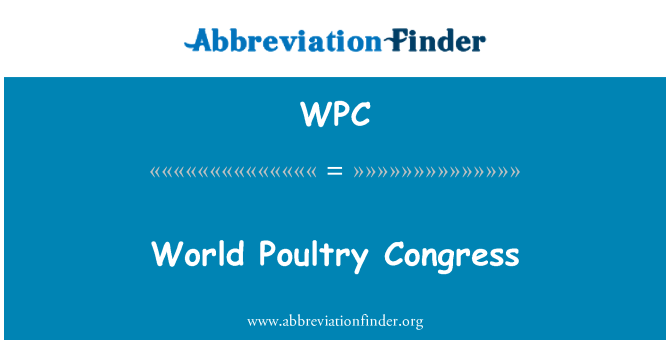 WPC: World Poultry Congress