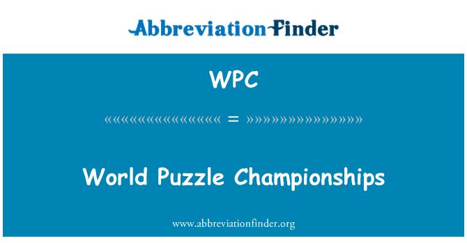 WPC: Campeonato Mundial de rompecabezas