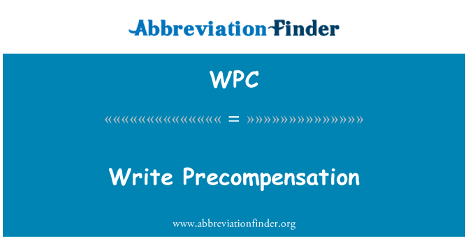WPC: Escribir a Precompensation