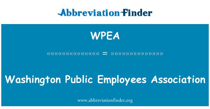 WPEA: Washington Public Employees Association