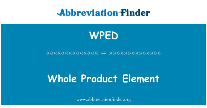 WPED: Kogu toote Element