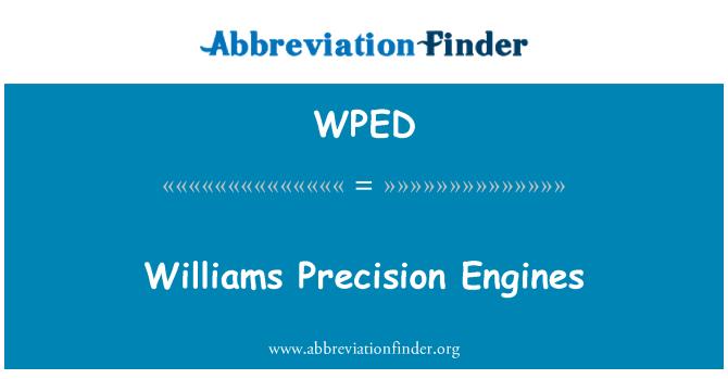 WPED: Williams hassas motorları
