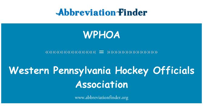 WPHOA: Western Pennsylvania Hockey Officials Association