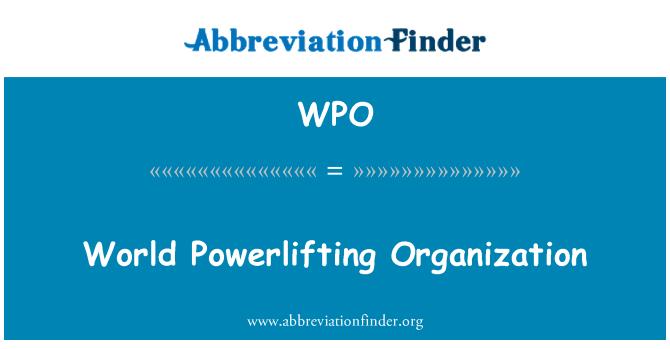 WPO: World Powerlifting Organization