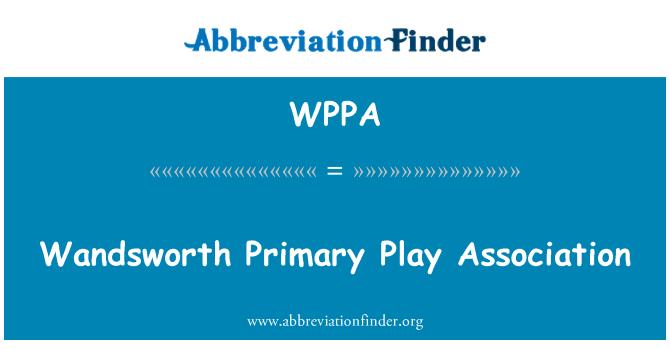 WPPA: Wandsworth esmatasandi mängida Assotsiatsiooni