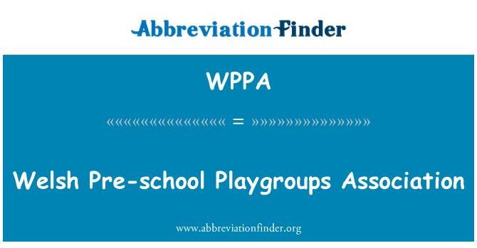 WPPA: Galce okul öncesi Playgroups Derneği