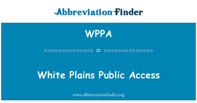 WPPA: White Plains üldsuse juurdepääsu